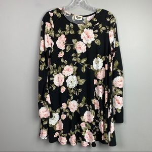 Show Me Your MuMu Floral Long Sleeve Dress Small